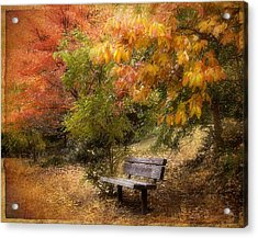Autumn's Repose Acrylic Print by Jessica Jenney