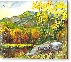 Autumn's Showpiece Acrylic Print by Carol Wisniewski