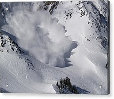 Avalanche Iv Acrylic Print by Bill Gallagher