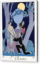 Avarice Acrylic Print by Georges Barbier