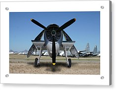 Abstract Avenger T B M Moffett Field Acrylic Print by Jack Pumphrey
