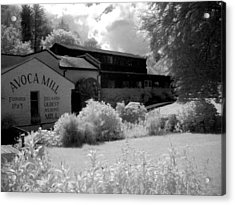 Avoca Mill Infrared Acrylic Print by Paulette Mortimer