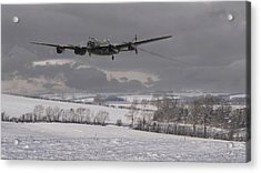 Avro Lancaster - Limping Home Acrylic Print by Pat Speirs