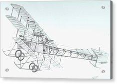 Avro Triplane Acrylic Print by Rick Bennett