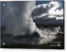 Awakening In Yellowstone Acrylic Print by Sandra Bronstein