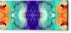 Awakening Spirit - Pattern Art By Sharon Cummings Acrylic Print by Sharon Cummings