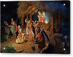 Away In The Manger  Acrylic Print by Susan  McMenamin