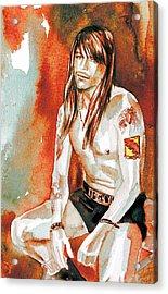 Axl Rose Portrait.4 Acrylic Print by Fabrizio Cassetta