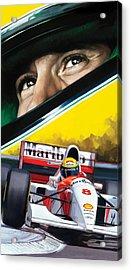 Ayrton Senna Artwork Acrylic Print by Sheraz A
