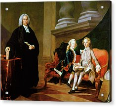 Ayscough And Pupils, C1749 Acrylic Print by Granger