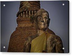Ayuthaya Close Up Acrylic Print by David Longstreath