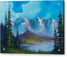 Azure Ridge Acrylic Print by C Steele