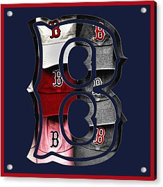 B For Bosox - Boston Red Sox Acrylic Print by Joann Vitali