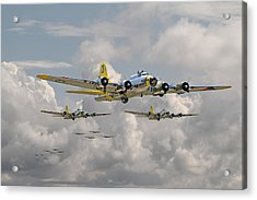B17 486th Bomb Group Acrylic Print by Pat Speirs
