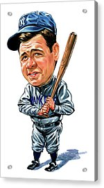 Babe Ruth Acrylic Print by Art