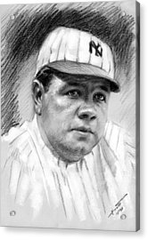 Babe Ruth Acrylic Print by Viola El