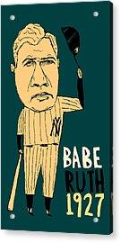 Babe Ruth New York Yankees Acrylic Print by Jay Perkins