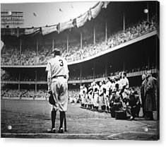 Babe Ruth Poster Acrylic Print by Gianfranco Weiss