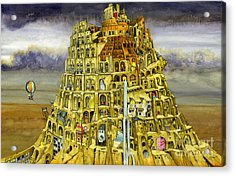 Babel Acrylic Print by Colin Thompson