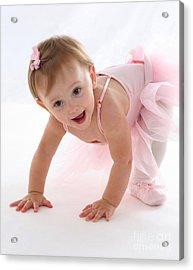 Baby Ballerina Acrylic Print by Suzi Nelson
