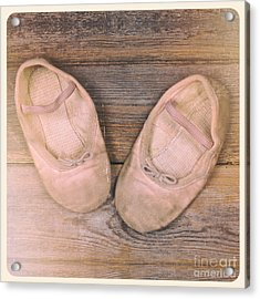 Baby Ballet Shoes Instant Photo Acrylic Print by Jane Rix