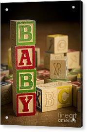Baby Blocks Acrylic Print by Edward Fielding