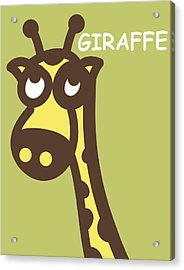 Baby Giraffe Nursery Wall Art Acrylic Print by Nursery Art