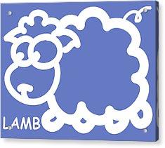 Baby Room Art - Lamb Acrylic Print by Nursery Art
