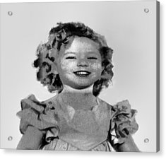 Baby Shirley Temple Sketch Acrylic Print by Linda Phelps