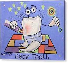 Baby Tooth Acrylic Print by Anthony Falbo