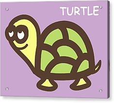Baby Turtle Nursery Wall Art Acrylic Print by Nursery Art