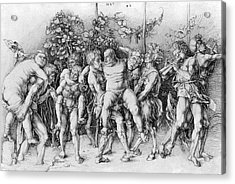 Bacchanal With Silenus - Albrecht Durer Acrylic Print by Daniel Hagerman