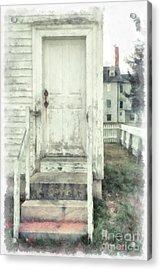 Back Door Acrylic Print by Edward Fielding