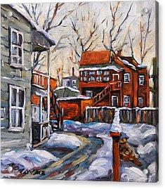 Back Lanes 02 Montreal By Prankearts Acrylic Print by Richard T Pranke