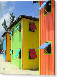 Back Of Cabins 2 Acrylic Print by Randall Weidner