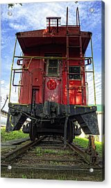 Back Of The Line Acrylic Print by Steve Hurt