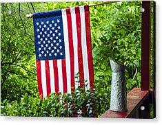 Back Porch Americana Acrylic Print by Carolyn Marshall