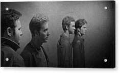 Back Stage With Nsync Bw Acrylic Print by David Dehner