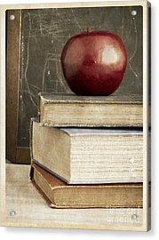 Back To School Apple For Teacher Acrylic Print by Edward Fielding
