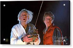 Back To The Future Acrylic Print by Paul Tagliamonte