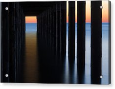 Back Under The Pier Acrylic Print by Steve Myrick