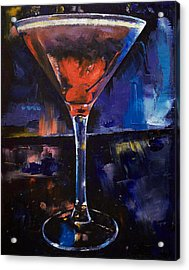 Backstage Martini Acrylic Print by Michael Creese