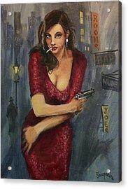 Bad Girl Acrylic Print by Tom Shropshire