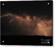 Badlands Lightning Acrylic Print by Chris  Brewington Photography LLC