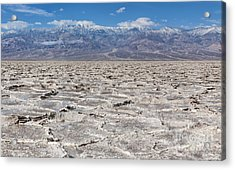Badwater Basin - Death Valley Acrylic Print by Sandra Bronstein