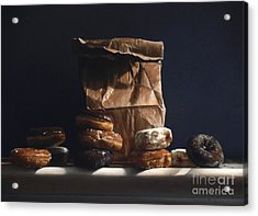 Bag Of Donuts Acrylic Print by Larry Preston