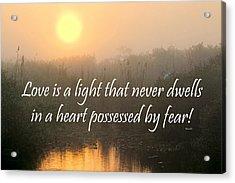 Bahai Quote Sunrise Acrylic Print by Rudy Umans