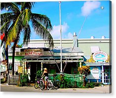 Bait And Tackle Key West Acrylic Print by Iconic Images Art Gallery David Pucciarelli