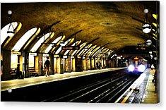 Baker Street London Underground Acrylic Print by Mark Rogan