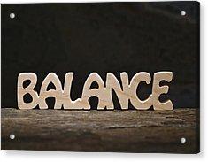 Balance Acrylic Print by Donald  Erickson